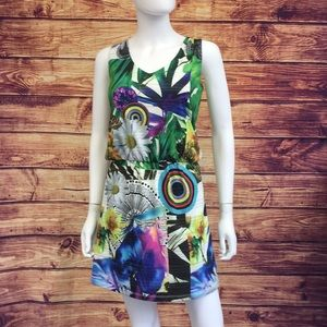 Desigual Multi Print With Elastic Waist Dress